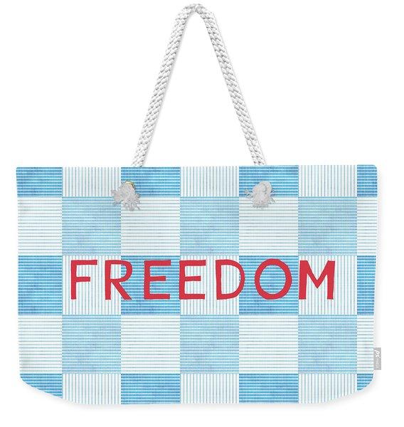 Freedom Patchwork Weekender Tote Bag