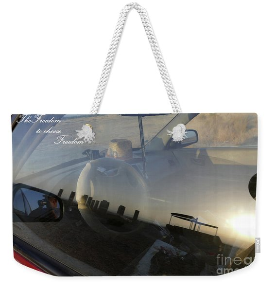 Weekender Tote Bag featuring the photograph Freedom To Choose Freedom by Arik Baltinester