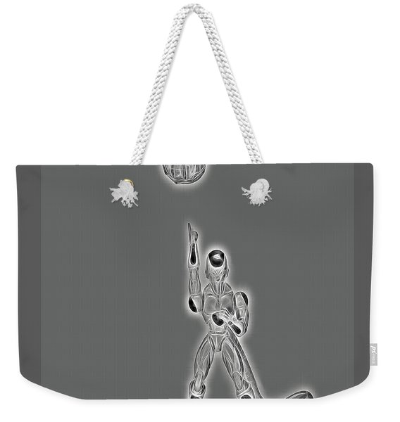 Freeza Black And White Weekender Tote Bag
