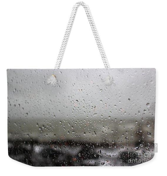 Freezing Rain Weekender Tote Bag