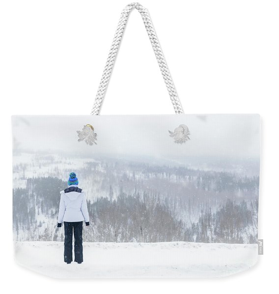 Freezing Solitude Weekender Tote Bag