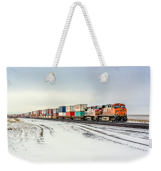 Freight Train Weekender Tote Bag