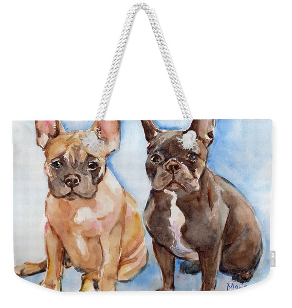 French Bull Dog Weekender Tote Bag