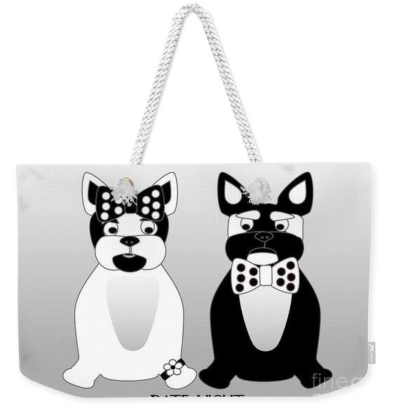 French Bulldog Date Night  Weekender Tote Bag