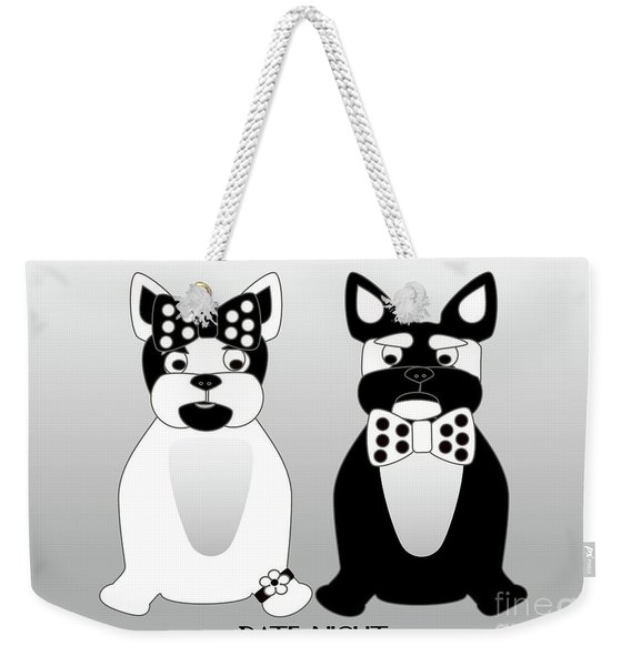 French Bulldog Date Night  Weekender Tote Bag