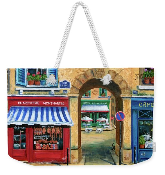 French Butcher Shop Weekender Tote Bag
