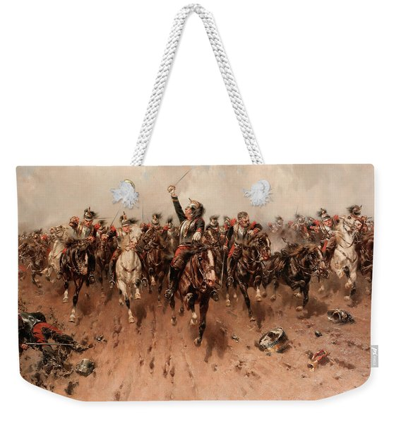 French Cavalry Charging Weekender Tote Bag