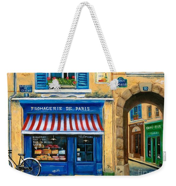 French Cheese Shop Weekender Tote Bag