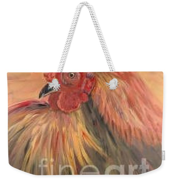 French Country Rooster Weekender Tote Bag