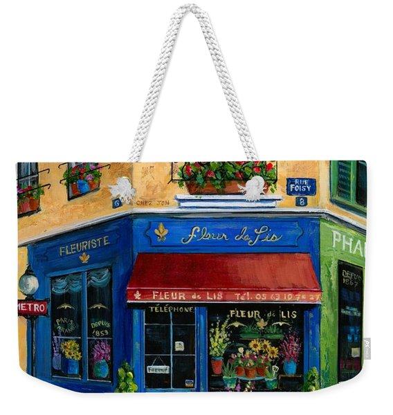 French Flower Shop Weekender Tote Bag