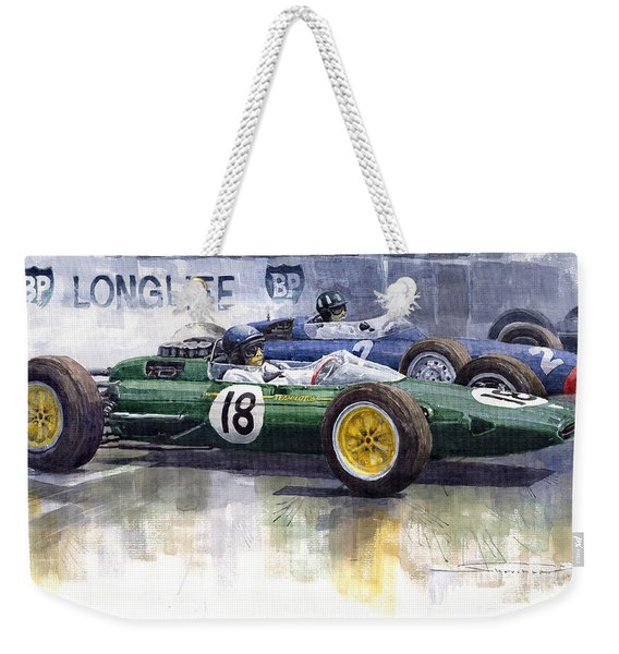 French Gp 1963 Start Lotus Vs Brm Weekender Tote Bag