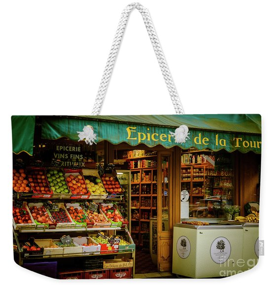 French Groceries Weekender Tote Bag