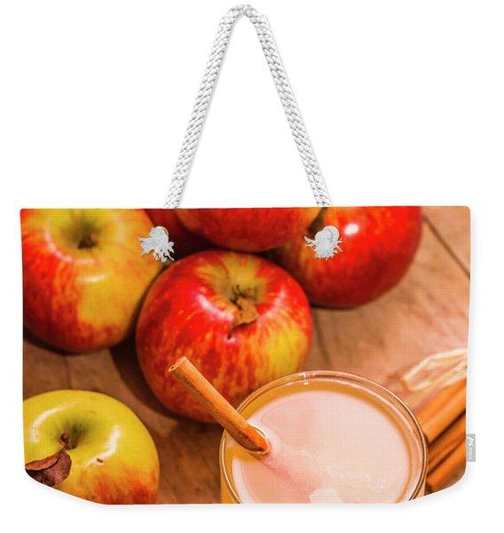 Fresh Apple Juice With Cinnamon Weekender Tote Bag