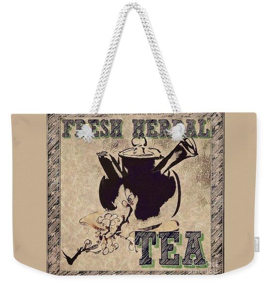 Fresh Herbal Tea Weekender Tote Bag