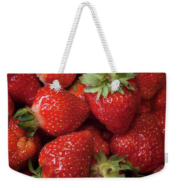 Fresh Picked Strawberries Weekender Tote Bag