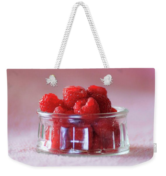 Fresh Raspberries Weekender Tote Bag
