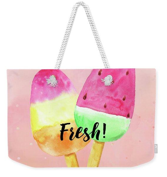 Fresh Summer Refreshing Fruit Popsicles Weekender Tote Bag