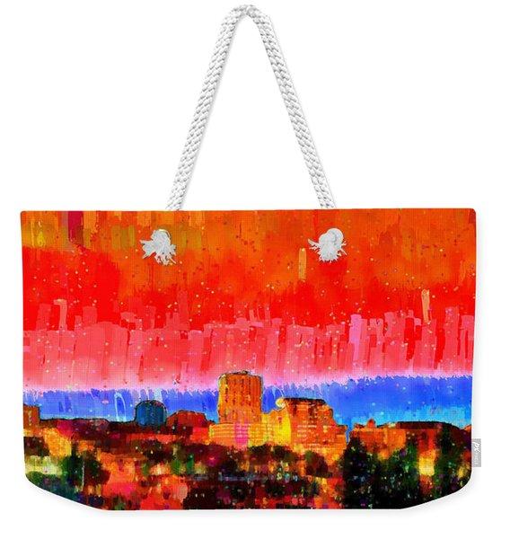 Fresno Skyline 101 - Pa Weekender Tote Bag