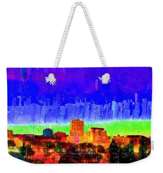 Fresno Skyline 102 - Da Weekender Tote Bag