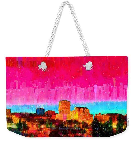 Fresno Skyline 104 - Pa Weekender Tote Bag