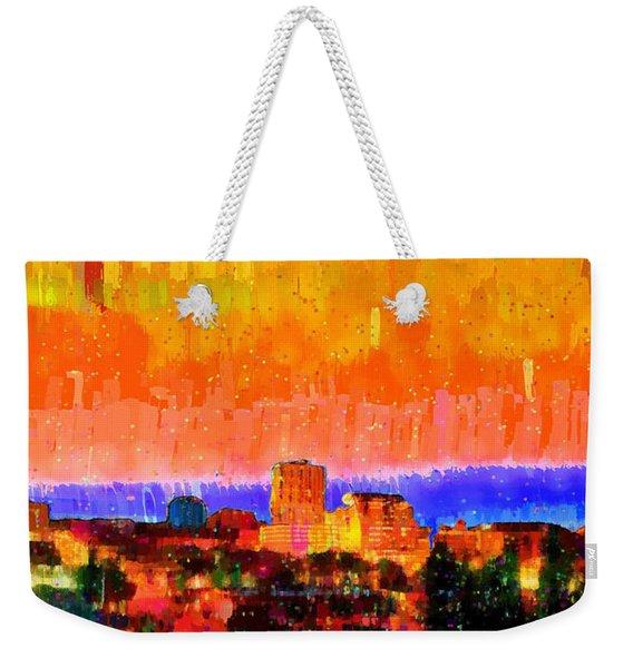 Fresno Skyline 105 - Pa Weekender Tote Bag