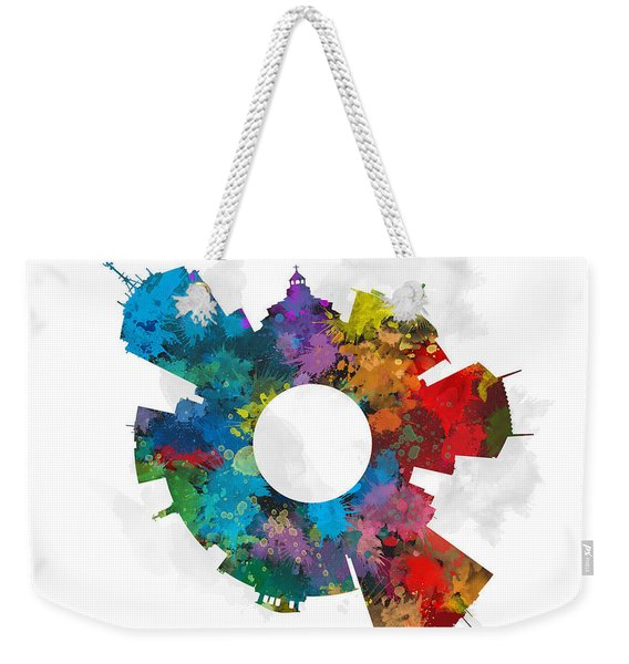 Fresno Small World Cityscape Skyline Abstract Weekender Tote Bag