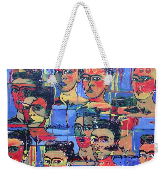 Frida Blue And Orange Weekender Tote Bag
