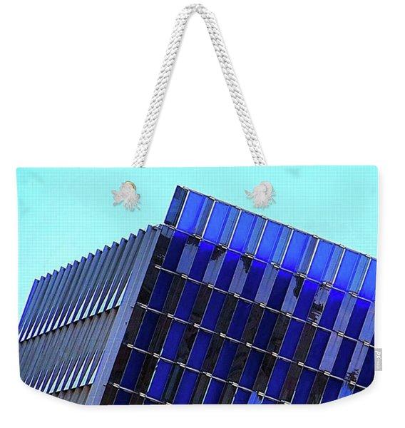 #friday Morning #austin, #texas #blue Weekender Tote Bag