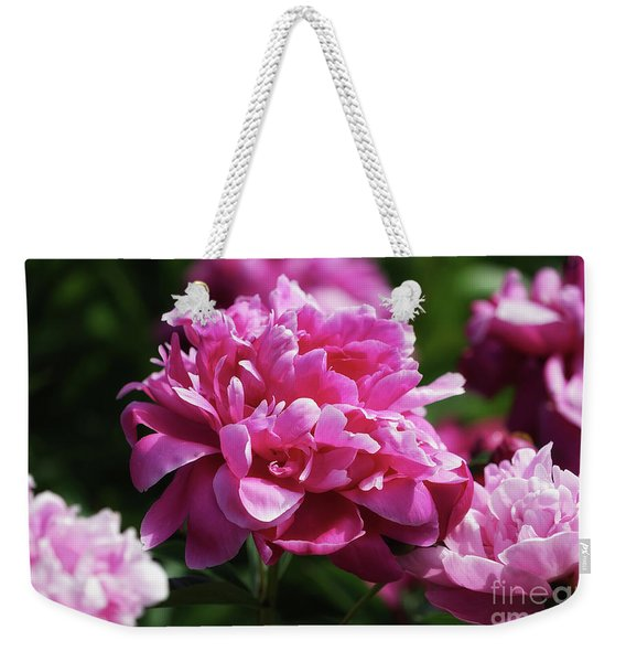 Friday Morning Peonies Weekender Tote Bag
