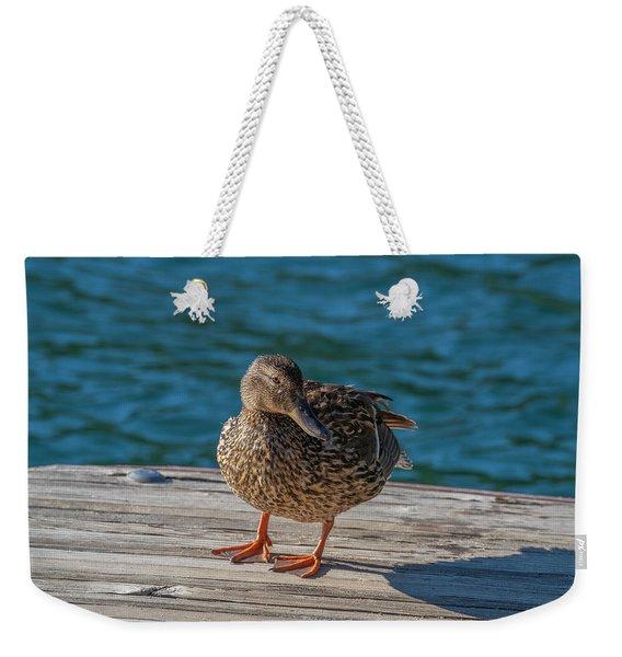 Friendly Duck Weekender Tote Bag