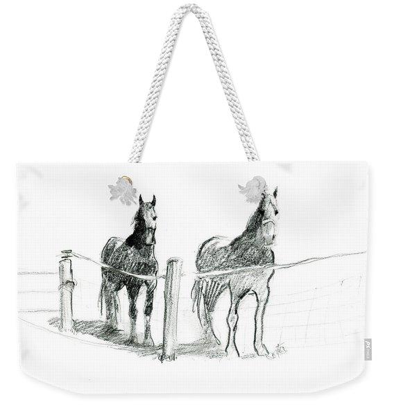 Friesian Horses Weekender Tote Bag
