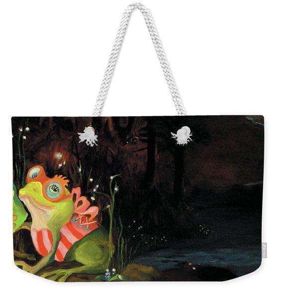 Frogs At Silver Lake Weekender Tote Bag