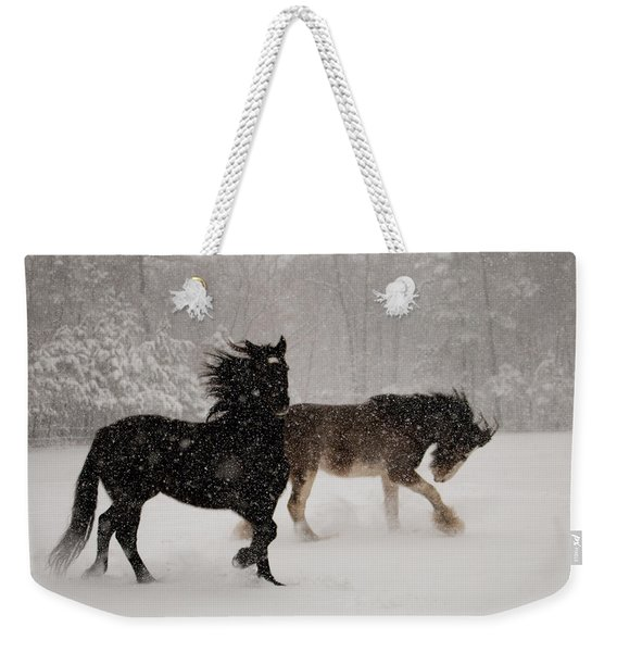 Frolic In The Snow Weekender Tote Bag