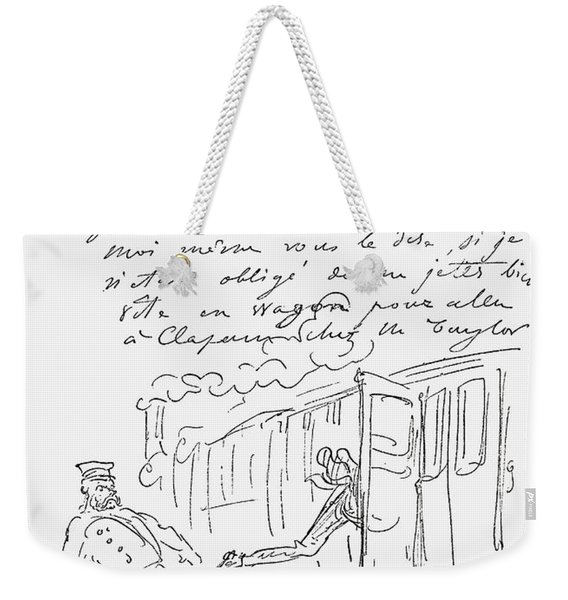 From A Facsimile Of A Letter Sent To Weekender Tote Bag