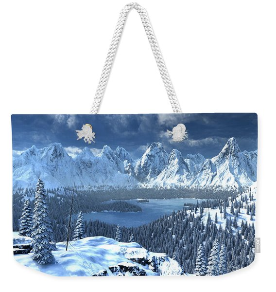 From An Open Sleigh Weekender Tote Bag