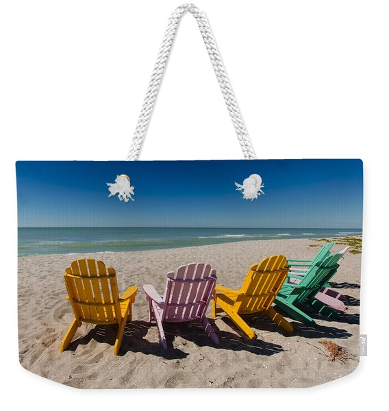 Front Row To Paradise Weekender Tote Bag