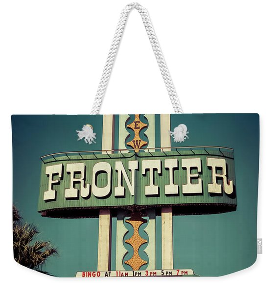 Frontier Hotel Sign, Las Vegas Weekender Tote Bag