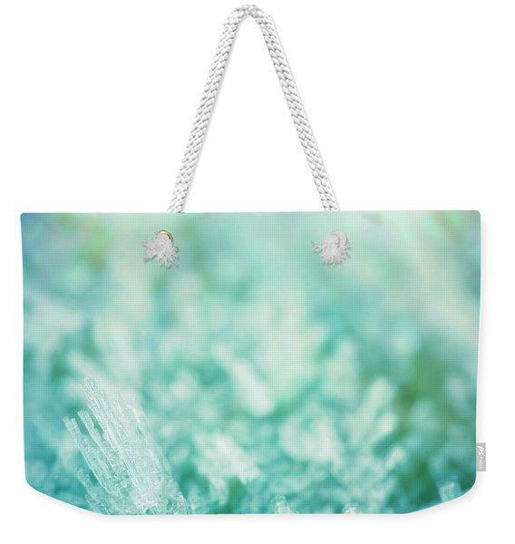 Frost Crystals Weekender Tote Bag