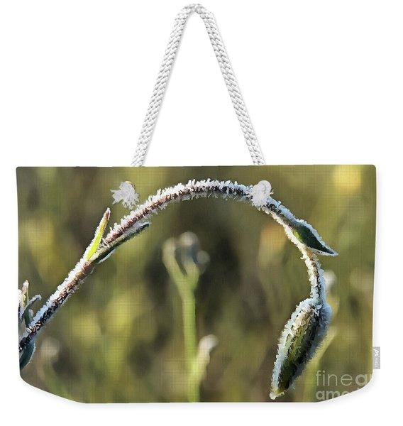 Frost On Flower Weekender Tote Bag