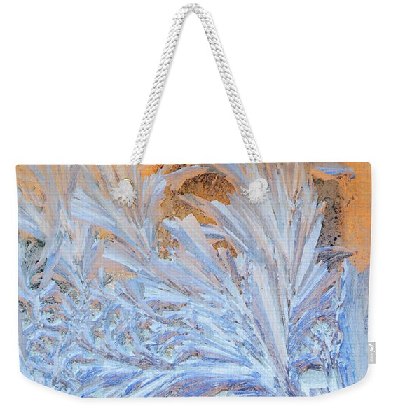 Frost Patterns On Window Weekender Tote Bag