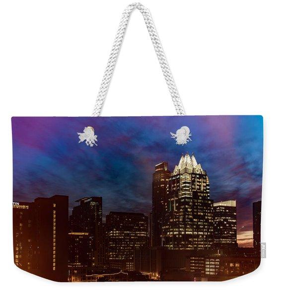 Frost Tower Weekender Tote Bag