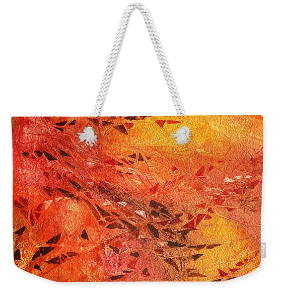 Frosted Fire I Weekender Tote Bag