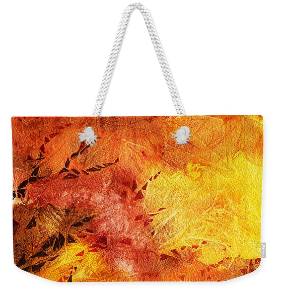 Frosted Fire II Weekender Tote Bag