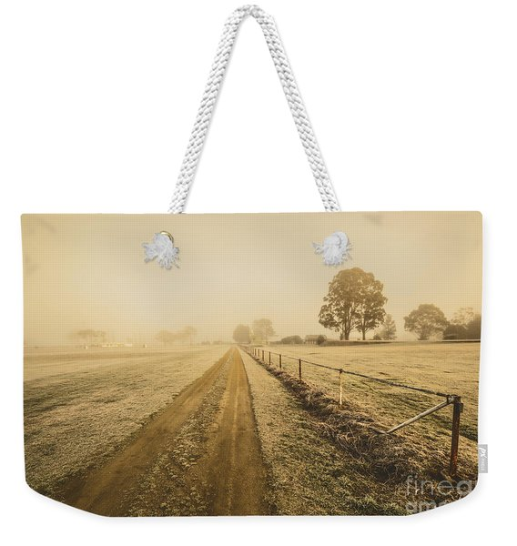 Frosted Road In Outback Australia Weekender Tote Bag