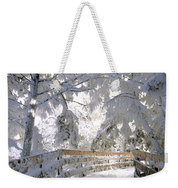 Frosty Boardwalk Weekender Tote Bag