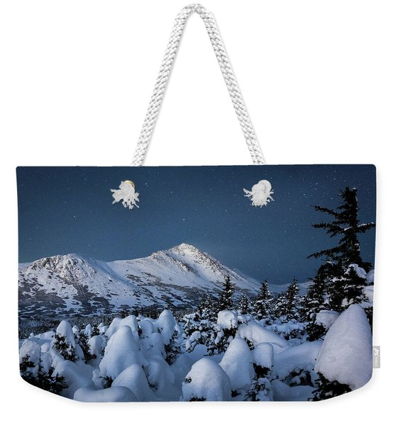 Weekender Tote Bag featuring the photograph Frosty False Omalley C by Tim Newton