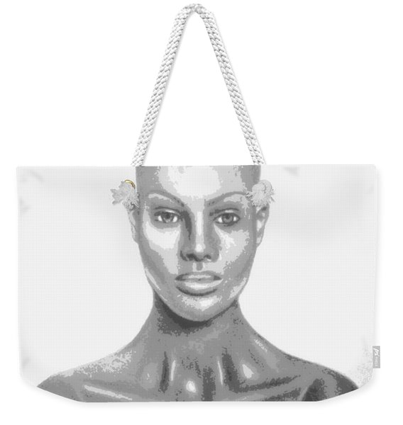 Bald Superficial Woman Mannequin Art Drawing  Weekender Tote Bag