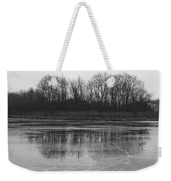 Frozen Forest Weekender Tote Bag