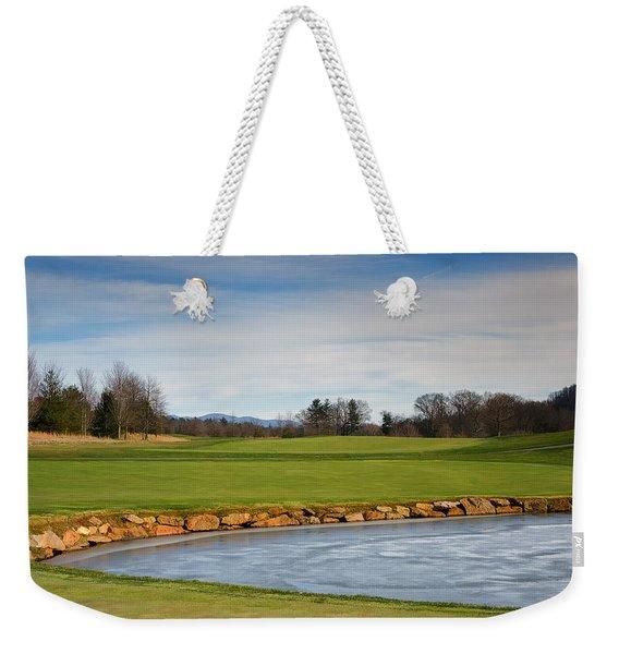Frozen Gleam Weekender Tote Bag