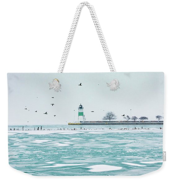 Frozen In Chicago Weekender Tote Bag